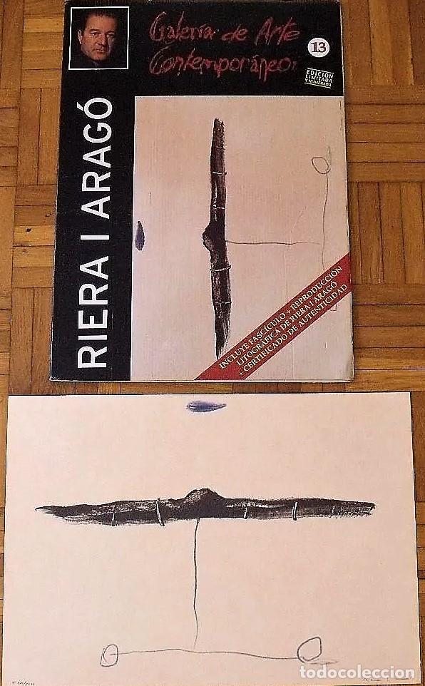 Arte: RIERA I ARAGÓ SUBMARINO REPR LITOGRÁFICA FIRMADA PLANCHA NUMERADA A LÁPIZ E367/1000 COA FASC CARPETA - Foto 11 - 198570861