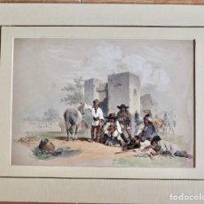 Arte: INTERESANTE LITOGRAFÍA COSTUMBRISTA- LOS HEICHE LITH- 1848 . Lote 198912965