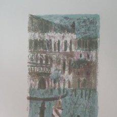 Arte: MAX PEIFFER WATENPHUL, VENECIA, LITOGRAFÍA FIRMADA Y NUMERADA, 1972. Lote 199095436