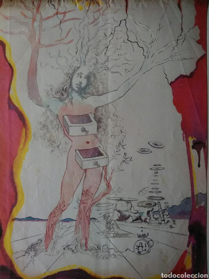 +1000€!! MUY RARA.AÑO1965.DALÍ SALVADOR. LITOGRAFÍA.SELLADA AUTENTICIDAD GALERÍA NACIONAL. DIFÍCIL (Arte - Litografías)