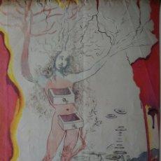 Arte: RARA.AÑO1965.DALÍ SALVADOR. LITOGRAFÍA.SELLADA AUTENTICIDAD GALERÍA NACIONAL.. Lote 199274041