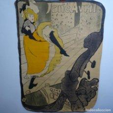 Arte: ANTIGUA LITOGRAFÍA DE HENRI TOULOUSE LAUTREC.JANE ABRIL.93.BIEN CONSERVADO.. Lote 199640510