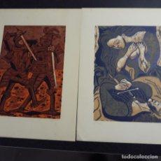 Arte: SEIS LITOGRAFIAS NUMERADAS DE RICARDO ZAMORANO 1934,FIRMADAS. Lote 199869418