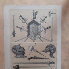Arte: ARMAS DE LOS SIGLOS XV Y XVI/LITOGRAFÍA SIGLO XIX/ ESPADA DE ISABEL LA CATÓLICA. Lote 199872081
