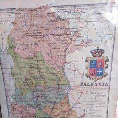 Arte: ANTIGUO MAPA DE PALENCIA, SERIE PROVINCIAS DE ESPAÑA, A. MARTÍN EDITOR BARCELONA AÑO 1916. Lote 200523556