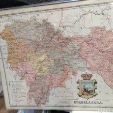 Arte: ANTIGUO MAPA DE GUADALAJARA, SERIE PROVINCIAS DE ESPAÑA, A. MARTÍN EDITOR BARCELONA AÑO 1916. Lote 200523767