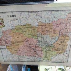 Arte: ANTIGUO MAPA DE LEÓN, SERIE PROVINCIAS DE ESPAÑA, A. MARTÍN EDITOR BARCELONA AÑO 1916. Lote 200523992