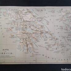 Arte: MAPA DE GRECIA, ORIGINAL AÑO 1890. Lote 200527151