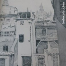 Arte: SEGOVIA PLAZA DEL RASTRILLO LITOGRAFIA 1915 ASPIAZU ILUSTRADOR 24 X 31 CMTS. Lote 200861585