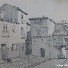 Arte: SEGOVIA ALREDEDORES DE LA PUERTA DEL SOCORRO LITOGRAFIA 1915 ASPIAZU ILUSTRADOR 24 X 31 CMTS. Lote 200861625