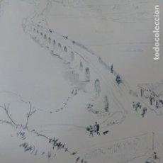 Arte: TORO ZAMORA PUENTE SOBRE EL DUERO LITOGRAFIA 1915 ASPIAZU ILUSTRADOR 24 X 31 CMTS. Lote 200861907