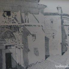 Arte: TOLEDO SANTA URSULA LITOGRAFIA 1915 ASPIAZU ILUSTRADOR 24 X 31 CMTS. Lote 200863736