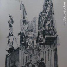 Arte: MALAGA CALLE LITOGRAFIA 1915 ASPIAZU ILUSTRADOR 24 X 31 CMTS. Lote 200864411