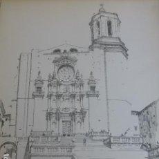 Arte: GERONA LA CATEDRAL LITOGRAFIA 1922 CAMBERLAIN ARTISTA AMERICANO 23 X 30,5 CMTS. Lote 201119675