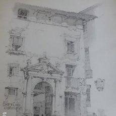 Arte: ZARAGOZA PALACIO LITOGRAFIA 1922 CAMBERLAIN ARTISTA AMERICANO 23 X 30,5 CMTS. Lote 201120678