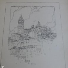 Arte: SEGOVIA VISTA DE LA CIUDAD LITOGRAFIA 1922 CAMBERLAIN ARTISTA AMERICANO 23 X 30,5 CMTS. Lote 201120706