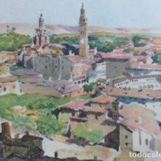 Arte: TARAZONA ZARAGOZA VISTA LITOGRAFIA 1925 POR V. H. BAILLEY . Lote 201154116