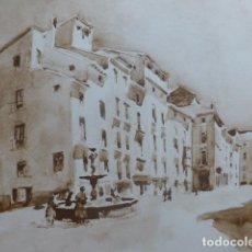 Arte: TARAZONA ZARAGOZA PLAZA DEL MERCADO LITOGRAFIA 1925 POR V. H. BAILLEY . Lote 201154187