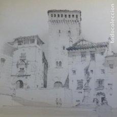 Arte: SEGOVIA PLAZA DE SAN MARTIN LITOGRAFIA 1922 CAMBERLAIN ARTISTA AMERICANO 23 X 30,5 CMTS. Lote 201190351