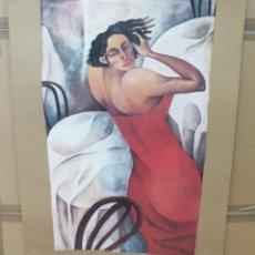 Arte: ANA JUAN - EL ROJO ADIÓS - MAMÁ GRAF - 97 X 67 CM.. Lote 228106805