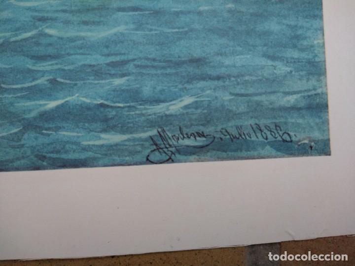 Arte: RAFAEL MONLEÓN TORRES. Navío inglés de 1637. Litografía firmada en plancha sin numerar. - Foto 4 - 201757736