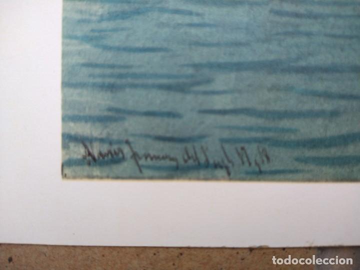 Arte: RAFAEL MONLEÓN TORRES. Navíos franceses del siglo 17 y 18. Litografía firmada en plancha sin numerar - Foto 3 - 201758036
