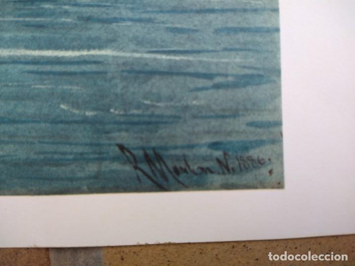 Arte: RAFAEL MONLEÓN TORRES. Navíos franceses del siglo 17 y 18. Litografía firmada en plancha sin numerar - Foto 4 - 201758036