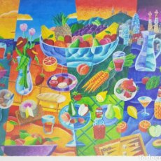 Arte: BARCELONA SKYLINE POR PHILIP STANTON ESTADOS UNIDOS 1962. Lote 202098397