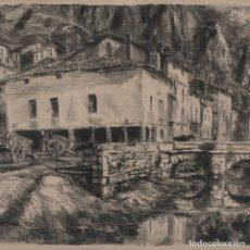 Arte: JULIO FRANCO (SAN SEBASTIÁN 1903-1980) - PAISAJE - LITOGRFIA SOBRE PAPEL - 30*40CM (43*53CM). Lote 202551961