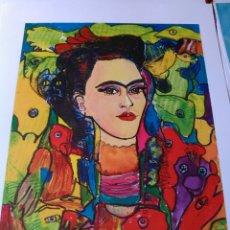 Arte: +180€!!.JURGEN GRAFE.FRIDA KAHLO. LITOGRAFÍA ORIGINAL FIRMADA A MANO POR EL ARTISTA . LIMITADA.. Lote 158497076