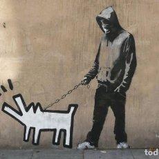 Arte: BANKSY - HARRING DOG.. Lote 202744741