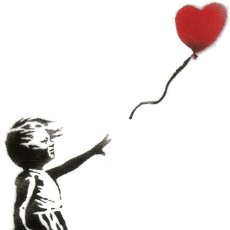 Arte: BANKSY - GIRL WITH BALLOON.. Lote 202782482