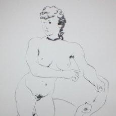 Arte: GENARO LAHUERTA LOPEZ (VALENCIA, 1905 - 1985) LITOGRAFIA FIRMADA A LAPIZ. TIRAJE Nº 110/150. DESNUDO. Lote 202933157