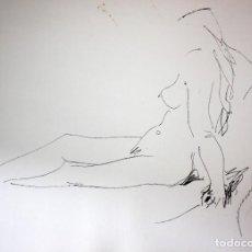 Arte: GENARO LAHUERTA LOPEZ (VALENCIA, 1905 - 1985) LITOGRAFIA FIRMADA A LAPIZ. TIRAJE Nº 110/150. DESNUDO. Lote 202933407