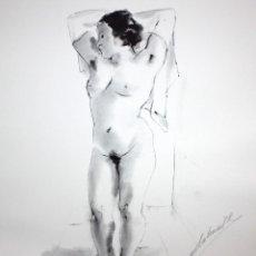 Arte: GENARO LAHUERTA LOPEZ (VALENCIA, 1905 - 1985) LITOGRAFIA FIRMADA A LAPIZ. TIRAJE Nº 110/150. DESNUDO. Lote 202933733