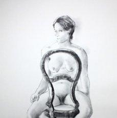 Arte: GENARO LAHUERTA LOPEZ (VALENCIA, 1905 - 1985) LITOGRAFIA FIRMADA A LAPIZ. TIRAJE Nº 110/150. DESNUDO. Lote 202933806