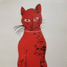 Arte: ANDY WARHOL, UNTITLED CAT FROM 25 CATS NAME SA. ROJO. Lote 221788570