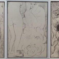 Arte: PABLO PICASSO 3 LITOGRAFÍAS: FEMME TORERO, MODELE ACCROUI, MODELE ET SCULPTURE- VOLLARD, GILI, 1956. Lote 203327941
