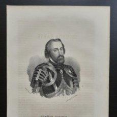 Arte: HERNÁN CORTÉS - CONQUISTADOR DE MÉXICO - LITOGRAFÍA ORIGINAL DEL SIGLO XIX - CA. 1860. Lote 203838138