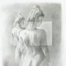 Arte: CELEDONIO PERELLÓN. LITOGRAFIA DE LA SERIE GÉMINIS. AÑOS 90 . FIRMADA Y SIGNADA HC. Lote 203916546