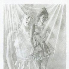Arte: CELEDONIO PERELLÓN. LITOGRAFIA DE LA SERIE GÉMINIS. AÑOS 90 . FIRMADA Y SIGNADA HC. Lote 203916850