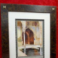Arte: SALON DE EMBAJADORES EN LA ALHAMBRA PIERRE VIGNAL 1912 CUADRO. Lote 204237368