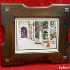 Arte: COUR GENERALIFE EN LA ALHAMBRA PIERRE VIGNAL 1912 CUADRO. Lote 204237520