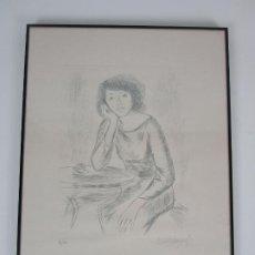 Arte: JOSEP Mª MORATÓ ARAGONÈS - LITOGRAFÍA DE MUJER - Nº 98/100. Lote 204258820