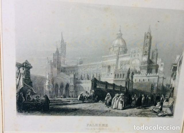 Arte: 3 LITOGRAFIAS PISA - PALERMO - FERRARA. MARCO RAIZ DE NOGAL Y ROBLE. - Foto 3 - 204324625