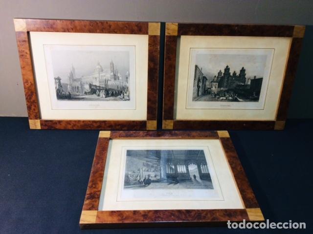 3 LITOGRAFIAS PISA - PALERMO - FERRARA. MARCO RAIZ DE NOGAL Y ROBLE. (Arte - Litografías)