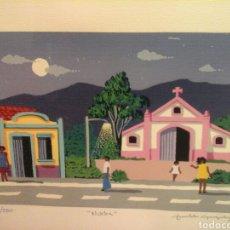 """Arte: SERIGRAFIA """" NOCHE"""" DE ARNALDO GONZALEZ ( FIRMADA ). Lote 204402245"""