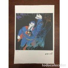 Arte: LITOGRAFIA ANDY WARHOL SUPERMAN. Lote 204792316
