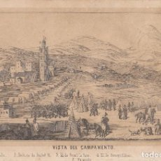 Arte: VISTA DEL CAMPAMENTO. LITOGRAFIA ORIGINAL DEL AÑO 1859. TAMAÑO: 22 X 15 CTMS.. Lote 204971780
