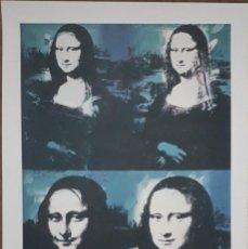 Arte: LITOGRAFÍA ANDY WARHOL FIRMADA Y NUMERADA ,MONA LISA , 49/100 ,GRAN TAMAÑO 57 X 38 CMS. Lote 205253137
